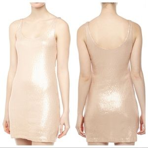 Tart Womens Sequined Tank Party Dress Rose Gold S